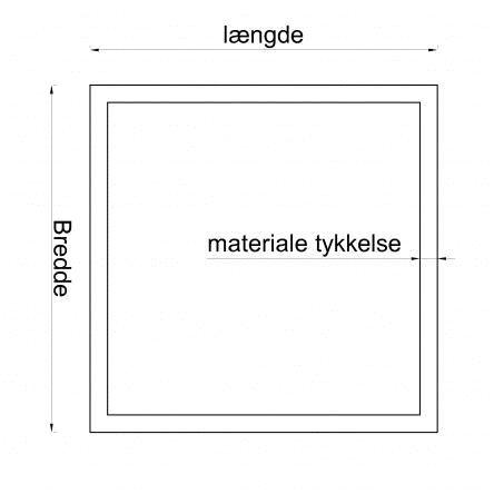 Koldtformet rørprofil Kvadratisk på mål S355J2H 200×200/5mm